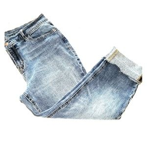 Boyfriend Straight leg cropped jeans